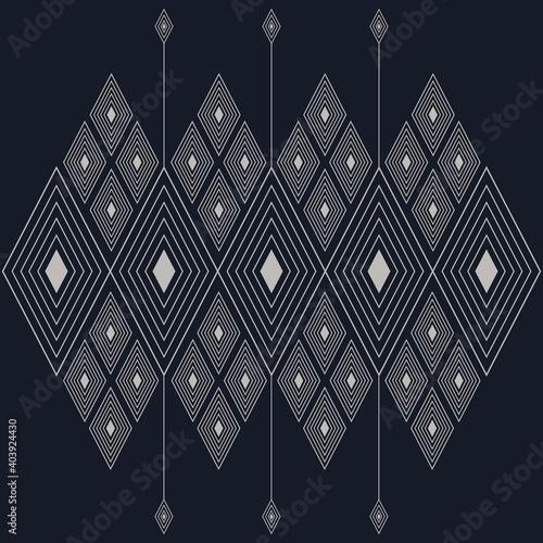 Fotografie, Obraz geometric folklore ornament pattern