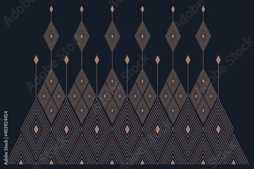 Obraz na plátně geometric folklore ornament pattern