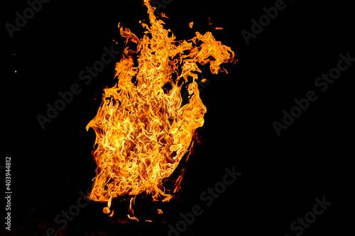Canvas Print Fuego ardiente