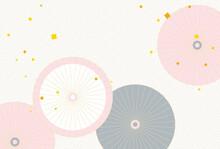 和傘のイラストの背景素材