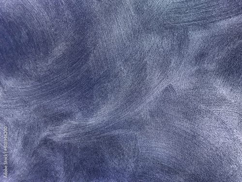 Fototapeta Texture of old background with decorative plaster navy blue colors