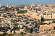 canvas print picture - Scenic landscape view of the city of Jerusalem, Israel.