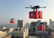 Drones Are Transporting First Aid Into The City.