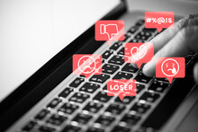 Social Media Troll Harassing People On Social Media