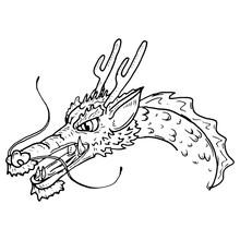 Dragon Lun. Vector Chinese Dragon.