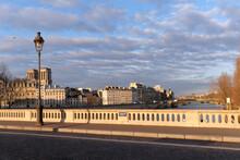 Louis Philippe Bridge In Paris City