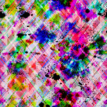 Abstract Cross Hatch Multi Colour Dye Pattern
