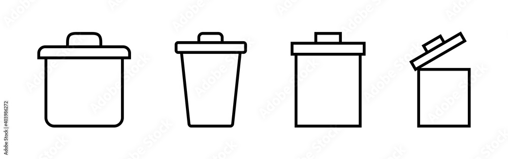 Fototapeta Trash icon vector. trash can icon. delete icon vector. garbage
