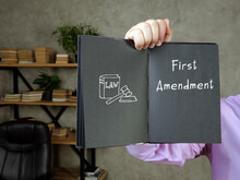 Business Concept About First Amendment With Phrase On The Page.