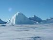 Antarctica snow ice sky white space winter cold