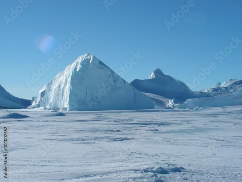 Antarctica snow ice sky white space winter cold Wallpaper Mural