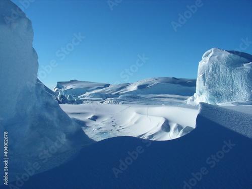 Fotografía Antarctica snow ice sky white space winter cold