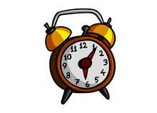 Vector Clip Art Of An Alarm Clock.