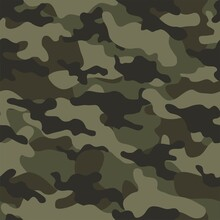 Military Camouflage Vector Seamless Print