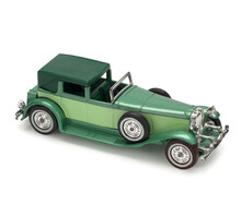 TOY Metal Car Of Yesteryear On White Background. Duesenberg Model J, 1930