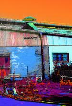 A Colourful Image Of An Old Factor Warehouse In Balmain Sydney Australia