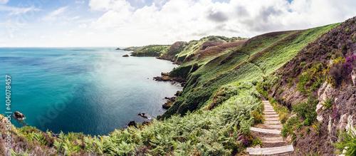 Cuadros en Lienzo Insel Jersey, United Kingdom, Küstenlandschaft zwischen Bouley Bay und Gorey Bay