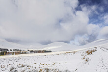 Winter Snowfall In The Brecon Beacons, Wales, UK