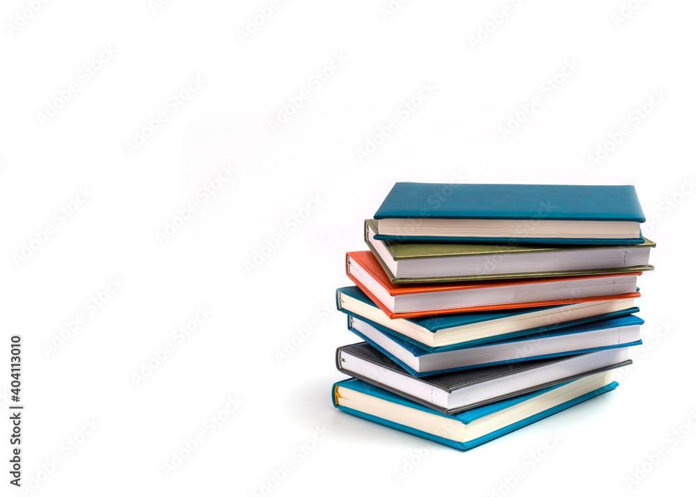 Fototapeta Stack Of Books On White Background