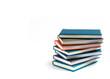 Leinwandbild Motiv Stack Of Books On White Background