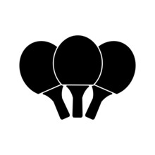 Ping Pong Icon In Trendy Flat Style Isolated On White Background. Sport Icon For Your Web Design, Logo. Vector Illustration