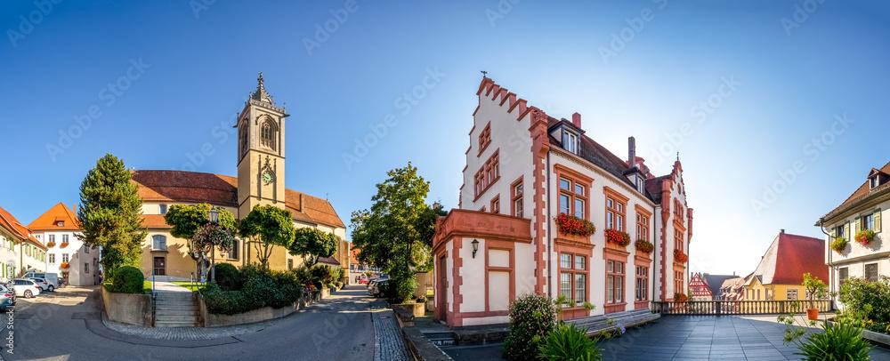 Fototapeta Sankt Jakobus Kirche, Rathaus, Pfullendorf, Baden-Württemberg, Deutschland