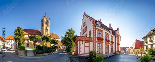 Fotografering Sankt Jakobus Kirche, Rathaus, Pfullendorf, Baden-Württemberg, Deutschland