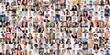 Leinwandbild Motiv Diverse People Face