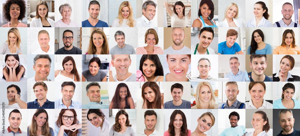 Fototapeta Diverse People Face