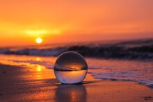 Glaskugel Im Meer