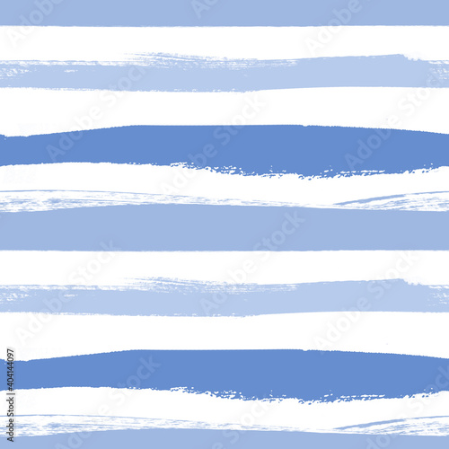 Valokuvatapetti nautical pattern with horizontal irregular blue and blue stripes painted in goua