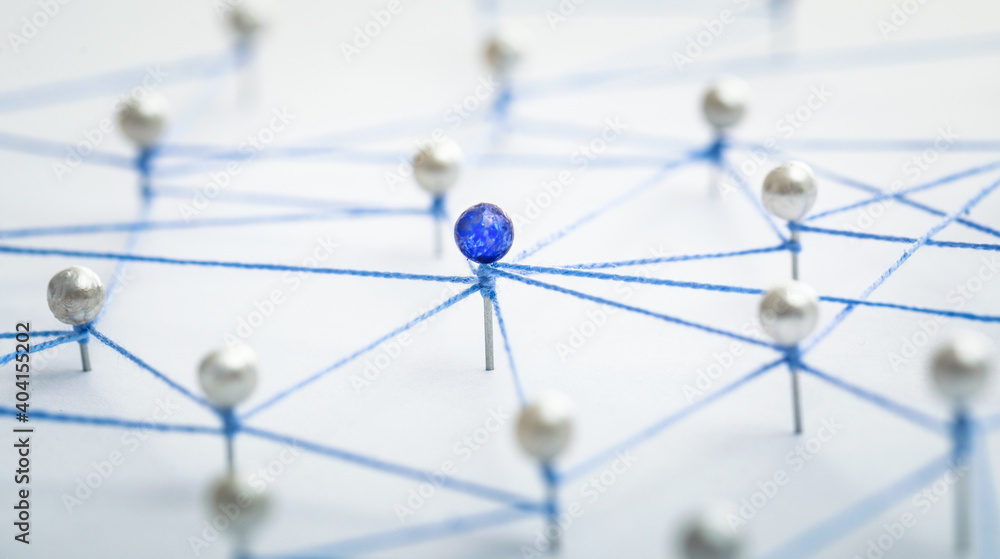 Fototapeta Teamwork, network and community concept.