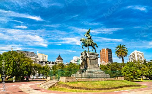 Monument to Jose de San Martin at Plaza San Martin in La Plata, Argentina