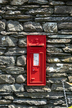 Victorian Postbox Set Into A Wall, Lake District, Cumbria, UK