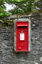 Postbox Set Into A Wall, Dunblane, Scotland, UK