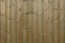 Background Or Texture Of Tanalised Redwood Shiplap Wood Cladding The Exterior Of A Building In Rural Devon, England, UK