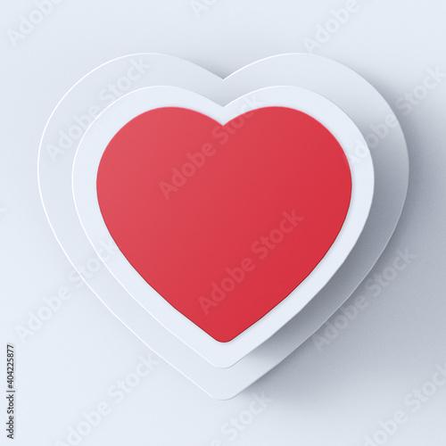 Obraz Valentine's Day Mockup 3D Rendering Design - fototapety do salonu