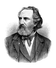 Portrait Of Franz Reuleaux ( 1829 - 1905) German Mechanical Engineer Of The Berlin Royal Technical Academy, Father Of Kinematics,remembered For The Reuleaux Triangle.