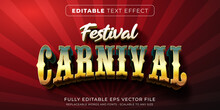 Editable Text Effect In Carnival Circus Style