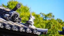 日本家屋の屋根の飾り瓦