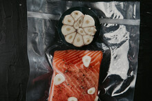 Red Fish In Vacuum Packaging