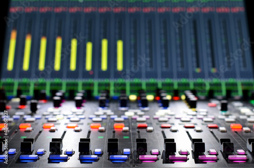 professional audio mixer with built display and illumination Fototapeta