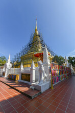 Phra That Chae Haeng Temple, It Is Being Renovated Annually.s