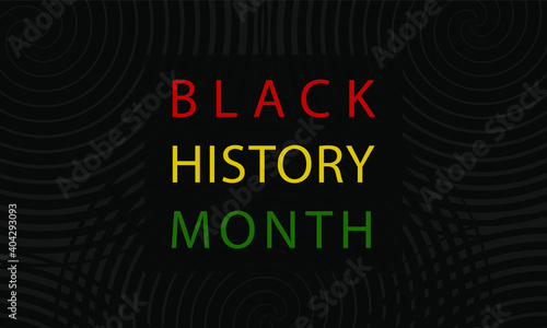 Black History Month - poster, card, banner, background. EPS 10