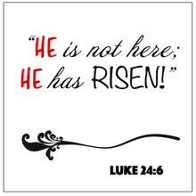 Luke 24:6- He Is Not Here He Has Risen For Christian Easter Encouragement From The New Testament Bible Scriptures.