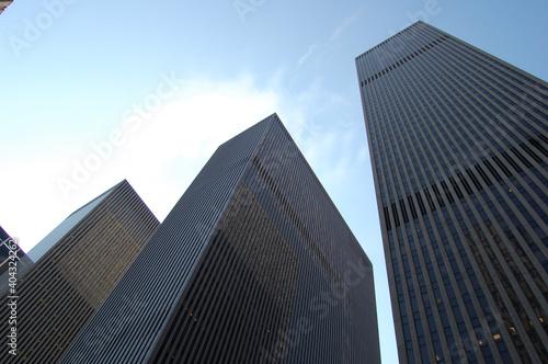 Vista de los edificios y rascacielos más emblemáticos de Manhattan (Nueva York).