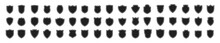 Shield Icons Set. Different Shield  Isolated On White Background. Vector Illustration