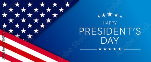 Cuadros en Lienzo USA Presidents Day - Washington's Birthday celebrate banner background