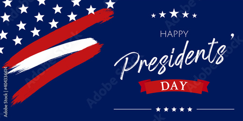 Photo USA Presidents Day - Washington's Birthday celebrate banner background
