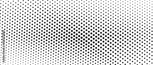 Canvas Print Black and white halftone concept
